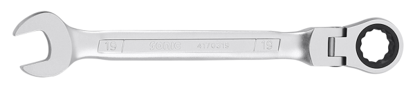Ring-Gabelschlüssel mit Ratsche, flexibel, 12-kant, 16mm