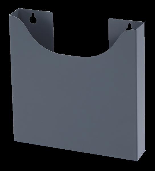 Abfallbehälter dunkelgrau (S9, S12), L310 x B80-130 x H241mm