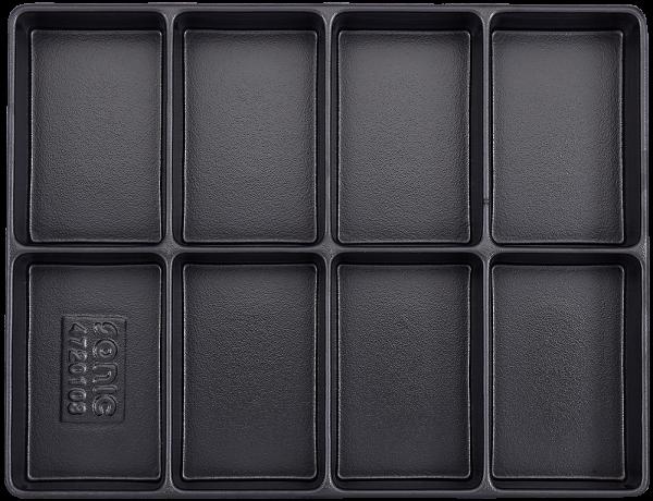 Leere Hartschale zur Aufbewahrung 8 Fächer (290x370x48mm)