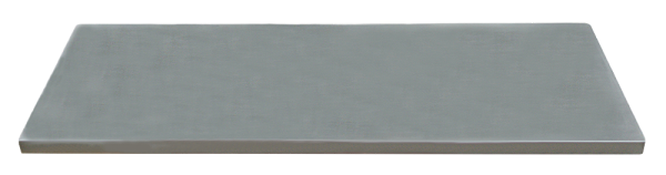 MSS Edelstahl-Arbeitsplatte 674x500x38mm