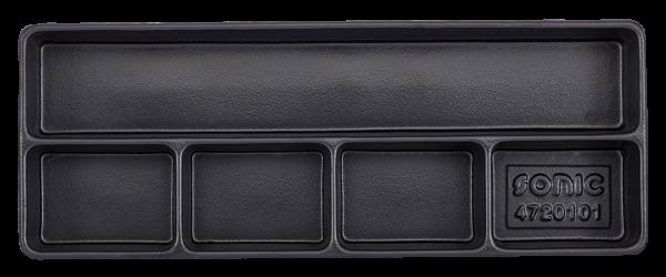 Leere Hartschale zur Aufbewahrung 5 Fächer (145x370x48mm)
