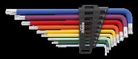 Winkelstiftschlüssel-Satz, TX, XL, Farbcodierung 9-tlg.