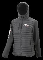 Hooded cross over jacket, black XL