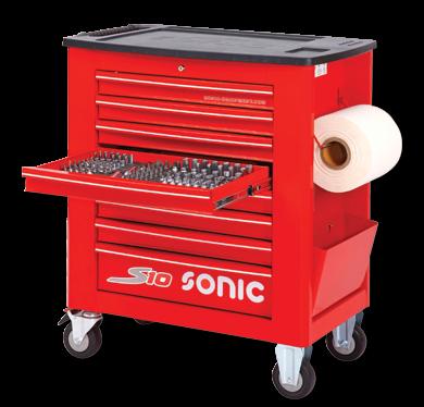 Werkstattwagen S10 gefüllt, 420-tlg., Rot