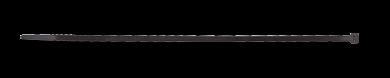 Kabelbinder, 4,8x190mm, 100 Stück Packung (schwarz)