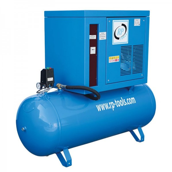RP-Tools Kompressor 270 l 2 Zyl. 5,5 PS 400 V - AN 653L AB 550L - Betriebsdruck 10 Bar - Super Silen