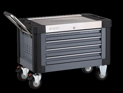 Aufsatzbox S9 gefüllt, 285-tlg., mit Rollensatz, dunkelgrau