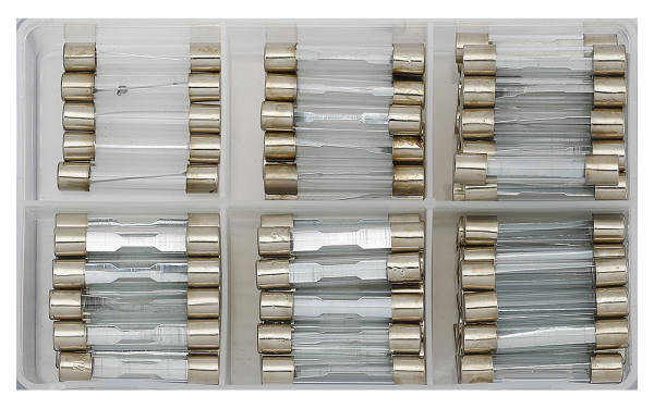 Glassicherungen-Sortiment 95-tlg.