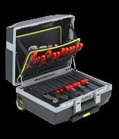 Werkzeugkoffer gefüllt, Räder, 132-tlg.