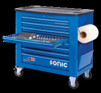 Werkstattwagen S11 gefüllt, 533-tlg., blau