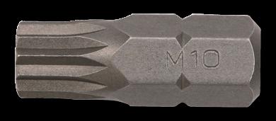 10mm Vielzahn Biteinsatz, 30mm, M6