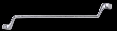 Abgekröpfter Ringschlüssel, 75°, 25x28mm