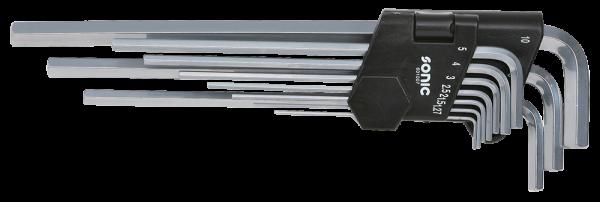 Innensechskantschlüsselsatz, lang, 1.27-10mm, 10-tlg.