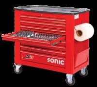 Sonic Equipment Werkstattwagen S11 644 Teile rot