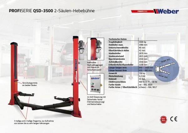 2 Säulen Hebebühne Weber Profi Serie QSD 3500