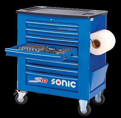 Werkstattwagen S10 gefüllt, 369-tlg., Blau