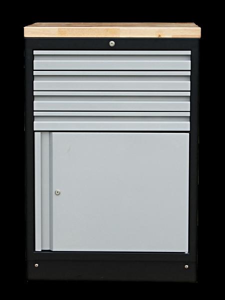 MSS 674mm Schrank mit Türe mit Holz-Arbeitsplatte