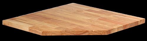 MSS Holz-Arbeitsplatte für Eck-Schrank