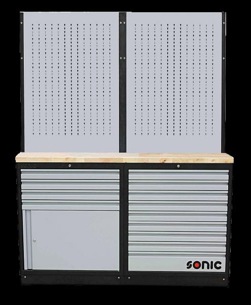 MSS 1690mm Schrankwand mit Holz-Arbeitsplatte