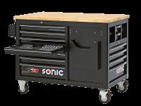 Sonic Equipment Werkstattwagen S13 Holzarbeitsplatte leer
