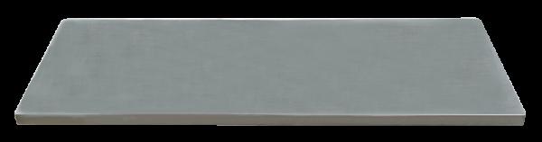 MSS Edelstahl-Arbeitsplatte 845x500x38mm