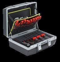 Werkzeugkoffer gefüllt, 132-tlg.