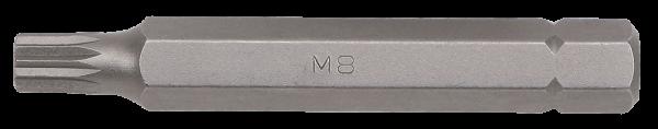 10mm Vielzahn Biteinsatz, 75mm, M8