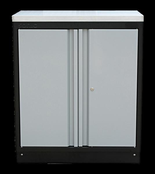 MSS 845mm Wandschrank mit Edelstahl-Arbeitsplatte