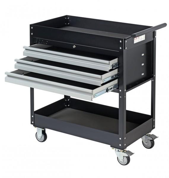 Werkstatt-Servicewagen mit 3 Schubladen, schwarz