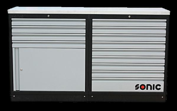MSS 1690mm Schrankwand mit Edelstahl-Arbeitsplatte