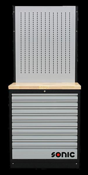 MSS 845mm Schrankwand mit Holz-Arbeitsplatte