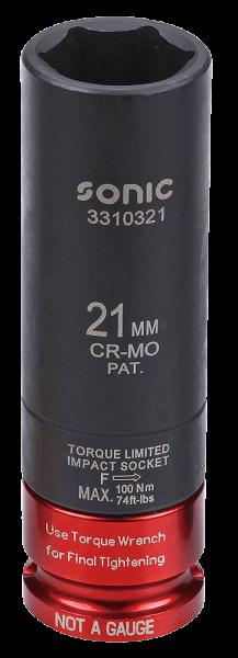 1/2'' Drehmomentbegrenzte Schlagschraub-Nuss 21mm