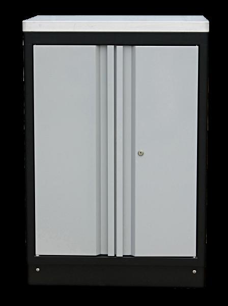 MSS 674mm Wandschrank mit Edelstahl-Arbeitsplatte