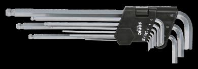 Kugel-Innensechskantschlüsselsatz, xl,1.27-10mm,10-tlg.