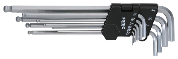 Kugel-Innensechskantschlüsselsatz, 10-tlg.