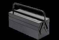 Werkzeugkiste, schwarz mit 5 Fächern