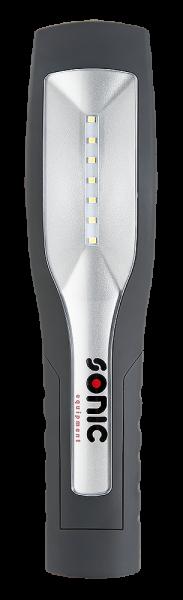 Sonic Equipment Handlampe aufladbar mit beweglichem Handgriff
