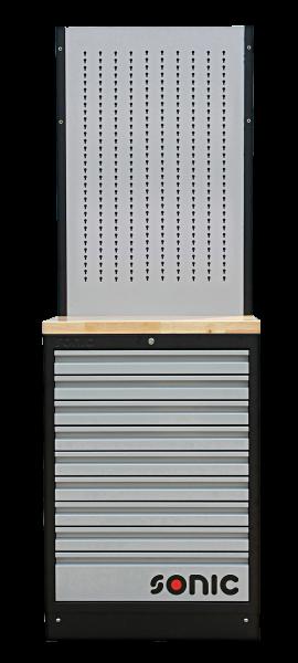 MSS 674mm Schrankwand mit Holz-Arbeitsplatte