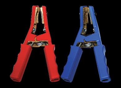 Kabel (50mm²) + blaue Klemme 850A für 12/24V