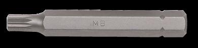 10mm Vielzahn Biteinsatz, 75mm, M6