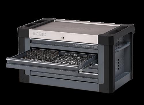 Aufsatzbox S9 gefüllt, 158-tlg., dunkelgrau