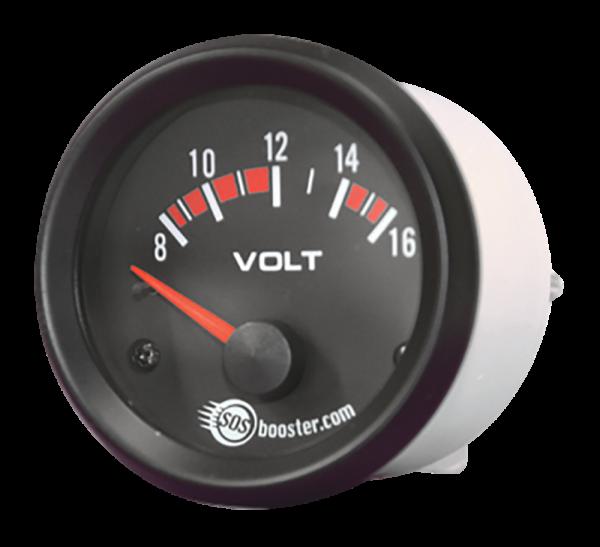 Voltmeter 8 bis 16 Volt für 12V & 12/24V Starthilfegeräte