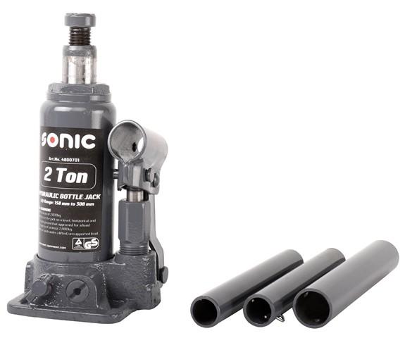 Sonic Equipment Hydraulischer Wagenheber 2t, 158 - 308mm, min/max Höhe