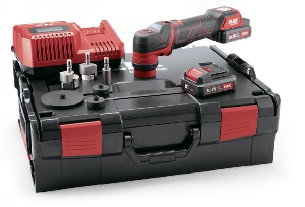 Der smarte Flex Akku-Polierer 10,8 V, rotativ und exzentrisch freilaufend, PXE 80 10.8-EC/2.5 Set