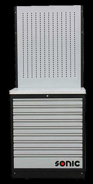 MSS 845mm Schrankwand mit Edelstahl-Arbeitsplatte