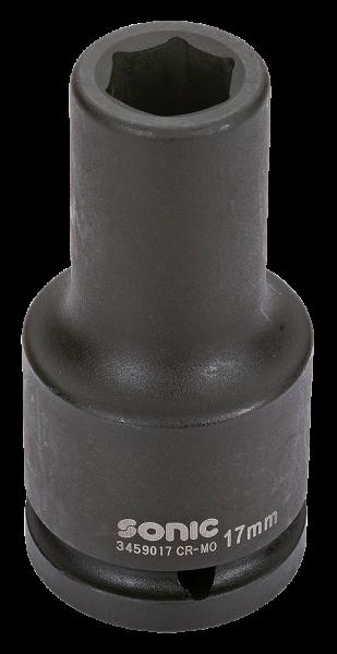 3/4'' Schlagschraub-Nuss, 6-kant, lang, 17mm