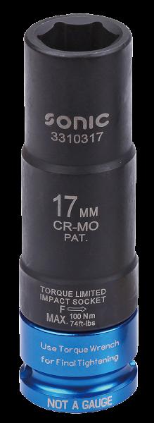 1/2'' Drehmomentbegrenzte Schlagschraub-Nuss 17mm