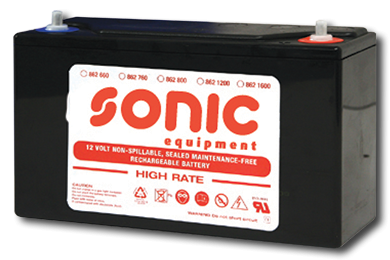 Batterie 12V -1600A (255x170x195mm) für Sonic Mobile